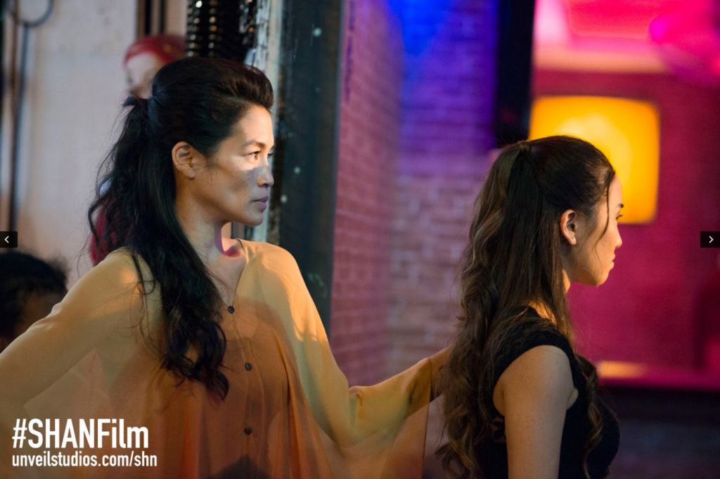Eugenia Yuan (MAMMA) and Teresa Ting (NUMBER 18) in a scene from She Has A Name