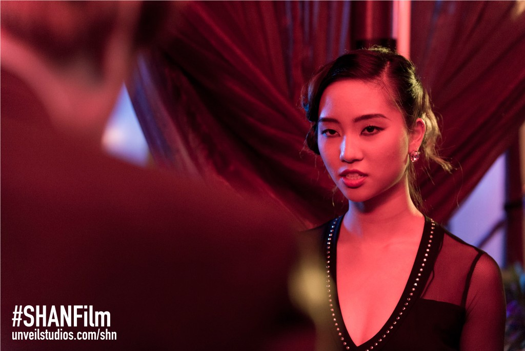 Teresa Ting (Number 18) in a scene of the film She Has A Name on location in Pattaya, Thailand