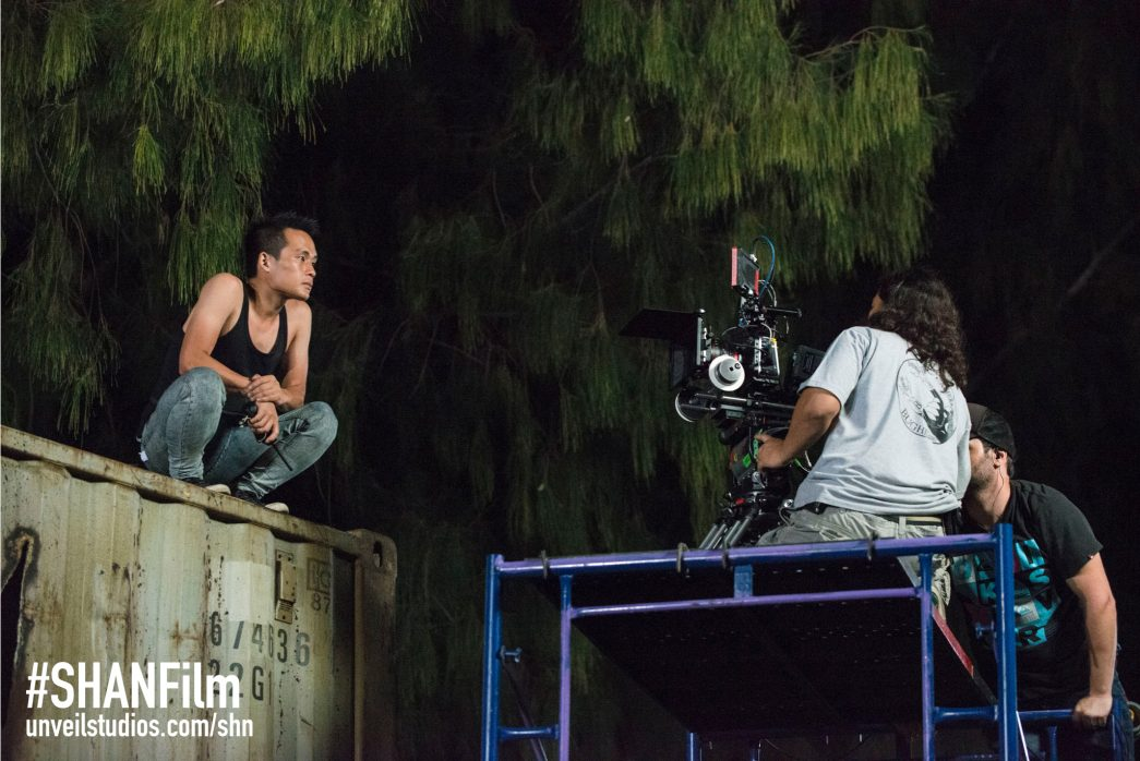 Director of Photography Bob Nguyen sets up a shot with his crew on She Has A Name