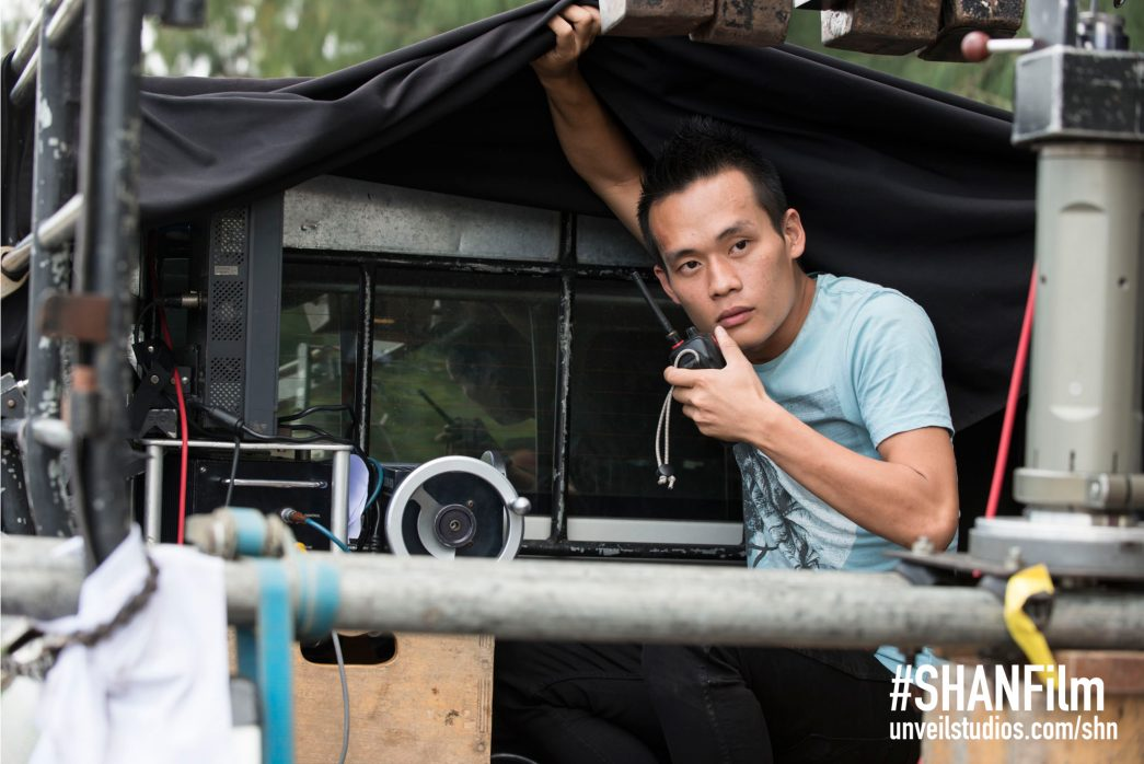 Bob Nguyen on set of She Has A Name